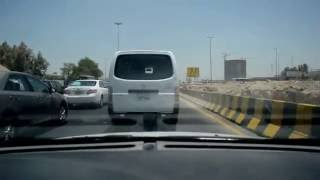 Inside the car in Kuwait City