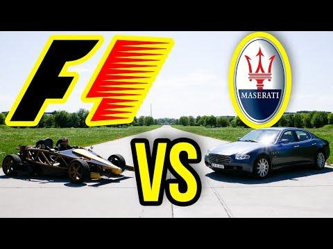 MASERATI VS BOLID F1 - WIELKI POJEDYNEK