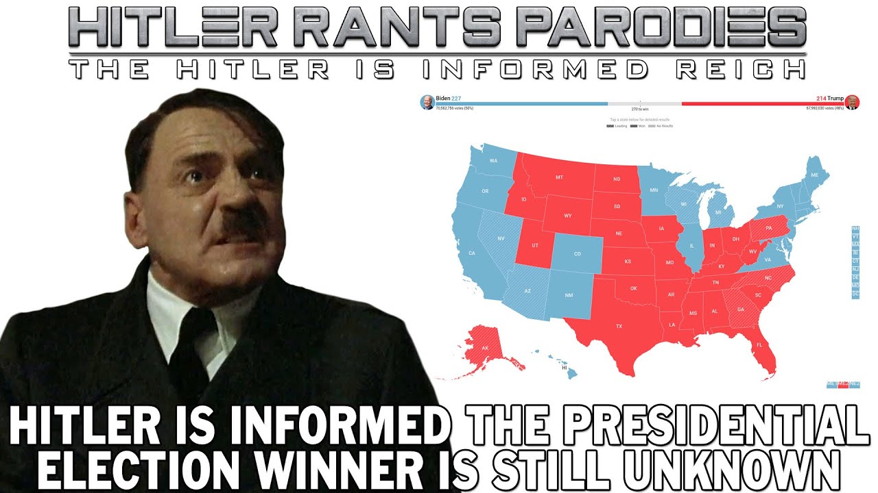 Hitler is informed the presidential election winner is still unknown