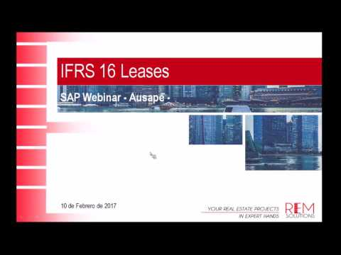 SAP Webinar Ausape - IFRS 16 Leases