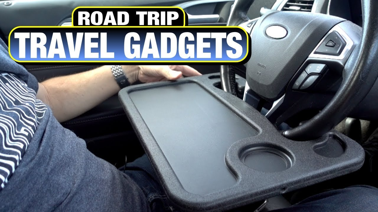Road Trip Travel Gadgets! Steering Wheel Tray + More!