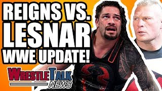 Brock Lesnar Vs. Roman Reigns backstage WWE update, Raw and SmackDo...