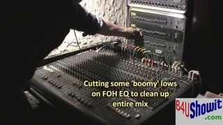Live Sound - How to do a Soundcheck - How to Mix a Band on Stage
