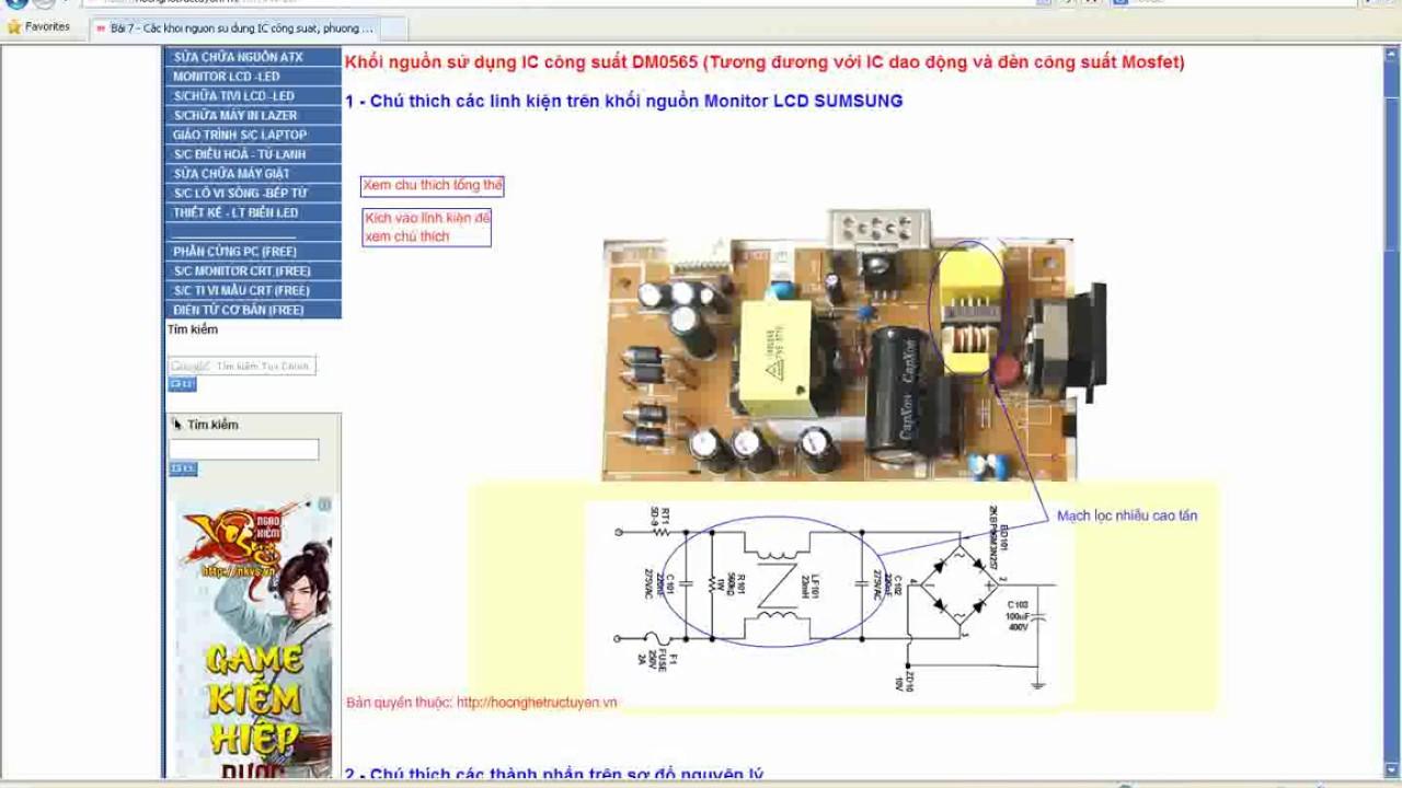 khối nguồn sử dụng ic công suất DM0565