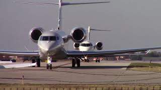 ADS Addison Airport Landing&Takeoff Dallas Cowboys Jerry Jones Helicopter and Gulfstream 650 G6