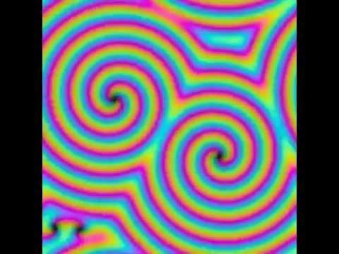 Spiral Chaos, 3 mode equations, similar to coupled complex Ginzburg-Landau equations