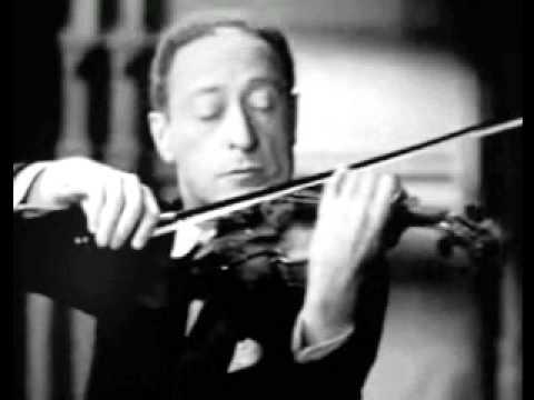 Heifetz playing Tchaikovsky Melodie