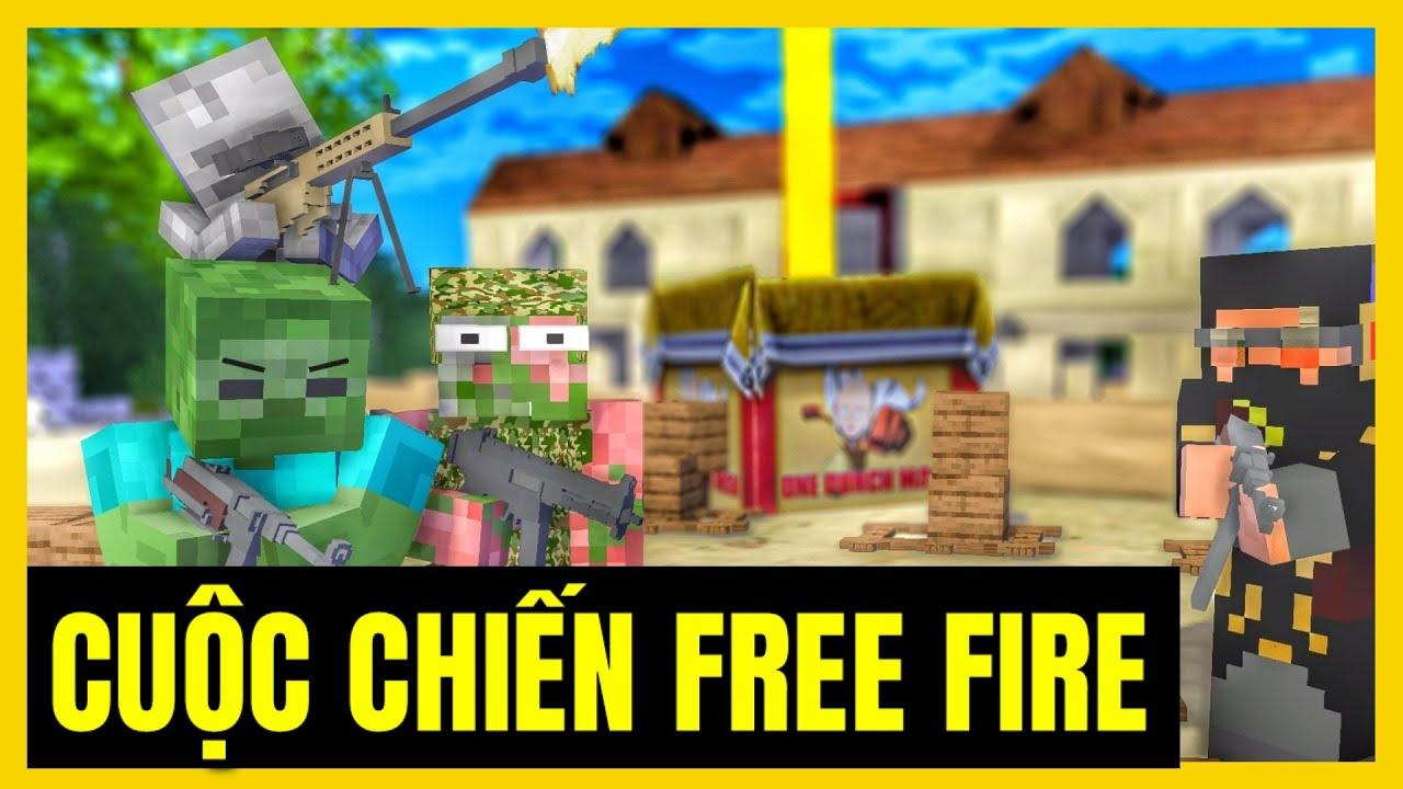 [ Lớp Học Quái Vật ] CUỘC CHIẾN FREE FIRE ( Tập Đặc Biệt )   Minecraft Animation