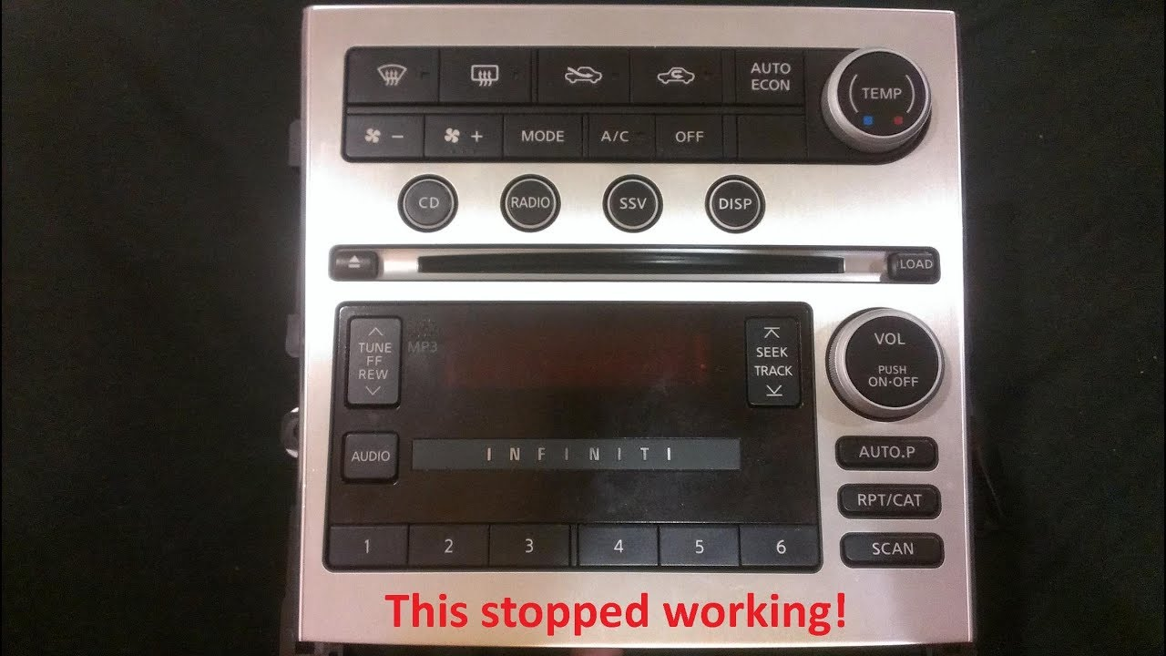 hight resolution of infiniti g35 after market radio install