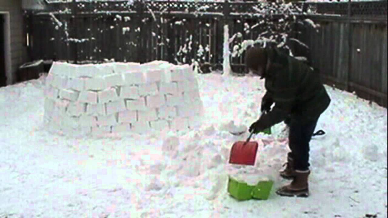 building a backyard igloo time lapse youtube