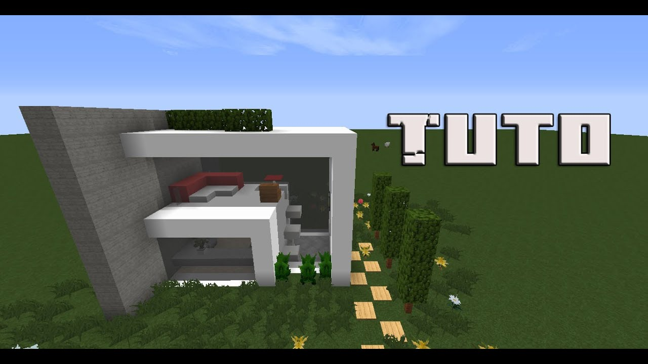 tuto petite maison moderne sur minecraft youtube. Black Bedroom Furniture Sets. Home Design Ideas