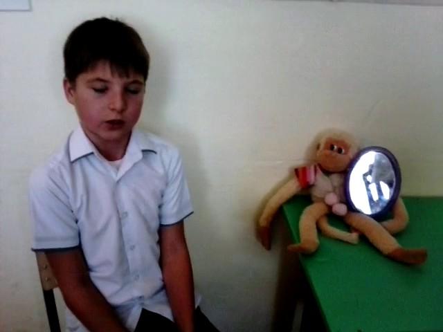 Изображение предпросмотра прочтения – БогданШарапов читает произведение «Зеркало и обезьяна» И.А.Крылова