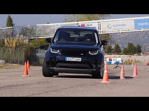 Land Rover Discovery 2017 - Maniobra de esquiva (moose test) y eslalon   km77.com
