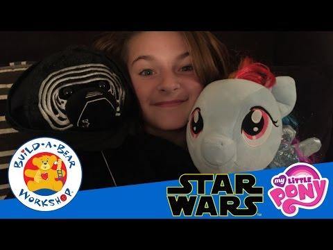 Build A Bear Workshop | Kylo Ren Star Wars Bear | My Little Pony Rainbow Dash