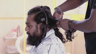 Finally Dhruva Sarja Haircut After 3 Years | Dhruva Sarja Hair Cutting Video