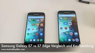 Samsung Galaxy S7 vs S7 Edge Vergleich und Kaufberatung