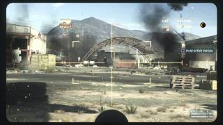 Battlefield Hardline - Ep 8 Sovereign Land: Plane Cannon Set-Piece (Helicopters, Vans, Buggies) PS4