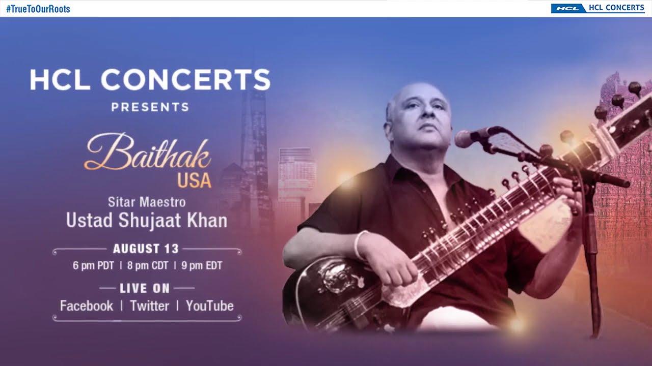 HCL Concerts presents Baithak USA - Ustad Shujaat Khan