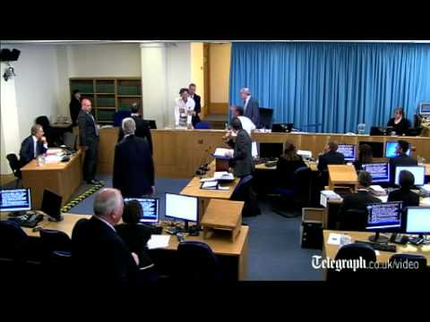 Iraq War protester interrupts Tony Blair at Leveson Inquiry