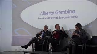 Intervento Prof. Alberto Gambino - Pro Rettore Università Europea di Roma