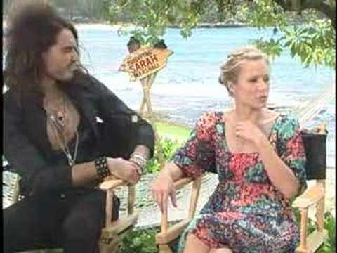 "KRISTEN BELL RUSSELL BRAND INTERVIEWS ""SARAH MARSHALL"""