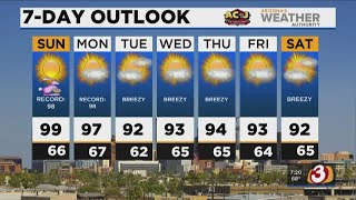 FORECAST: Record heat possible in Phoenix today, into the workweek