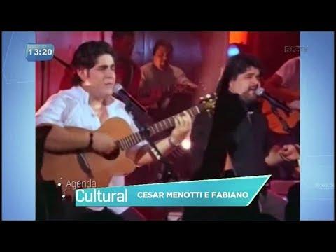Agenda Cultural: Cesar Menotti e Fabiano fazem leilão de sucesso no palco do Teatro Guaíra