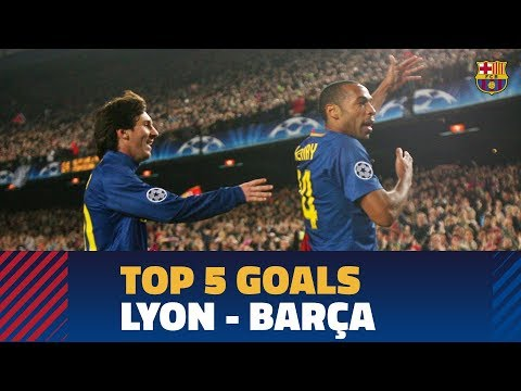 LYON - BARÇA | Top 5 goals in the Champions League