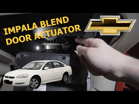 How To Replace A Chevy Impala Blend Door Actuator Clicking Fix Youtube