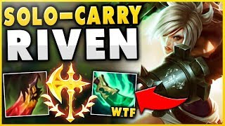 THIS RANK 1 RIVEN BUILD CAN SOLO-CARRY ANY GAME! (UNREAL POWER RIVEN GAMEPLAY! - League of Legends