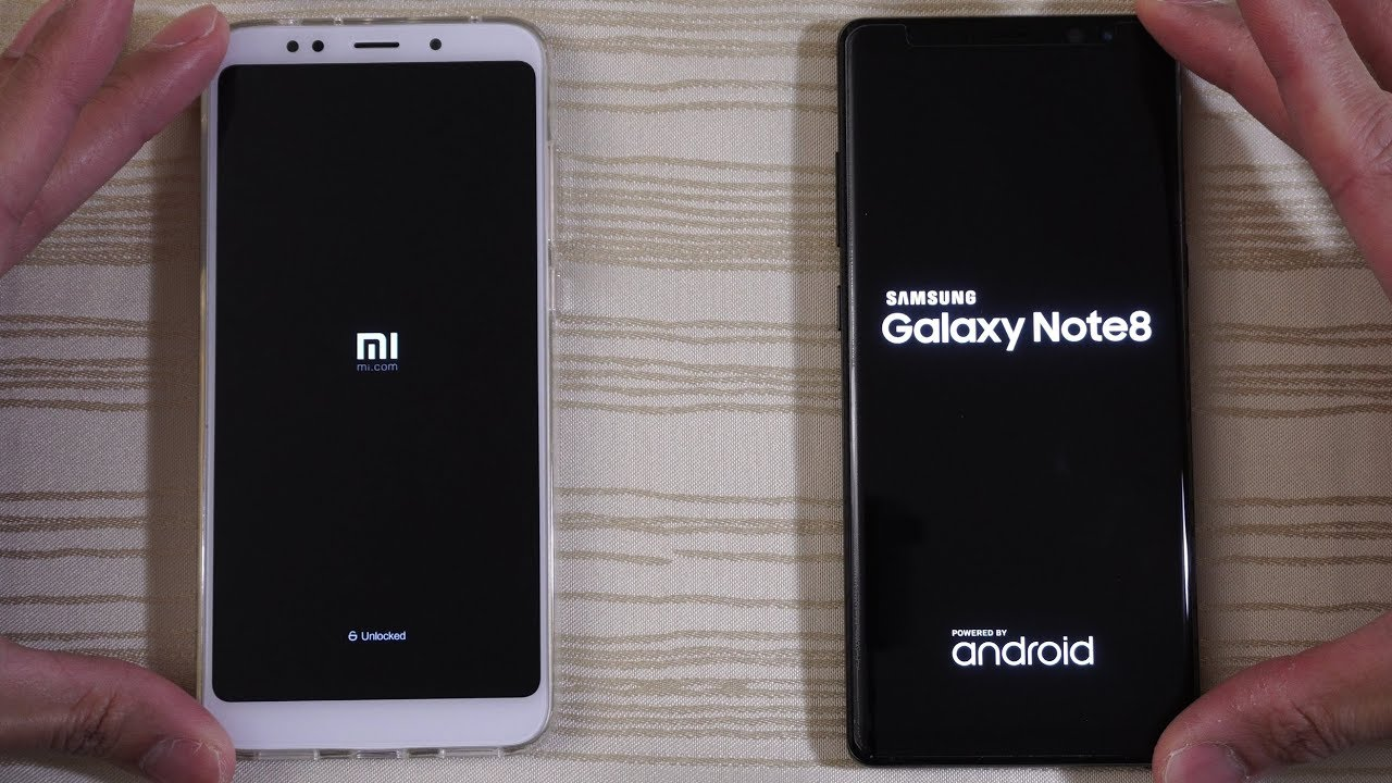Xiaomi Redmi 5 Plus Vs Galaxy Note 8 Speed Test Youtube