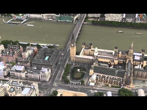 London United Kingdom 3D tour HD with music