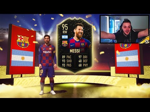 NO WAY! WE PACKED MESSI! TOP 100 FUT CHAMPIONS REWARDS! 5 RED PLAYER PICKS! FIFA 20 ULTIMATE TEAM