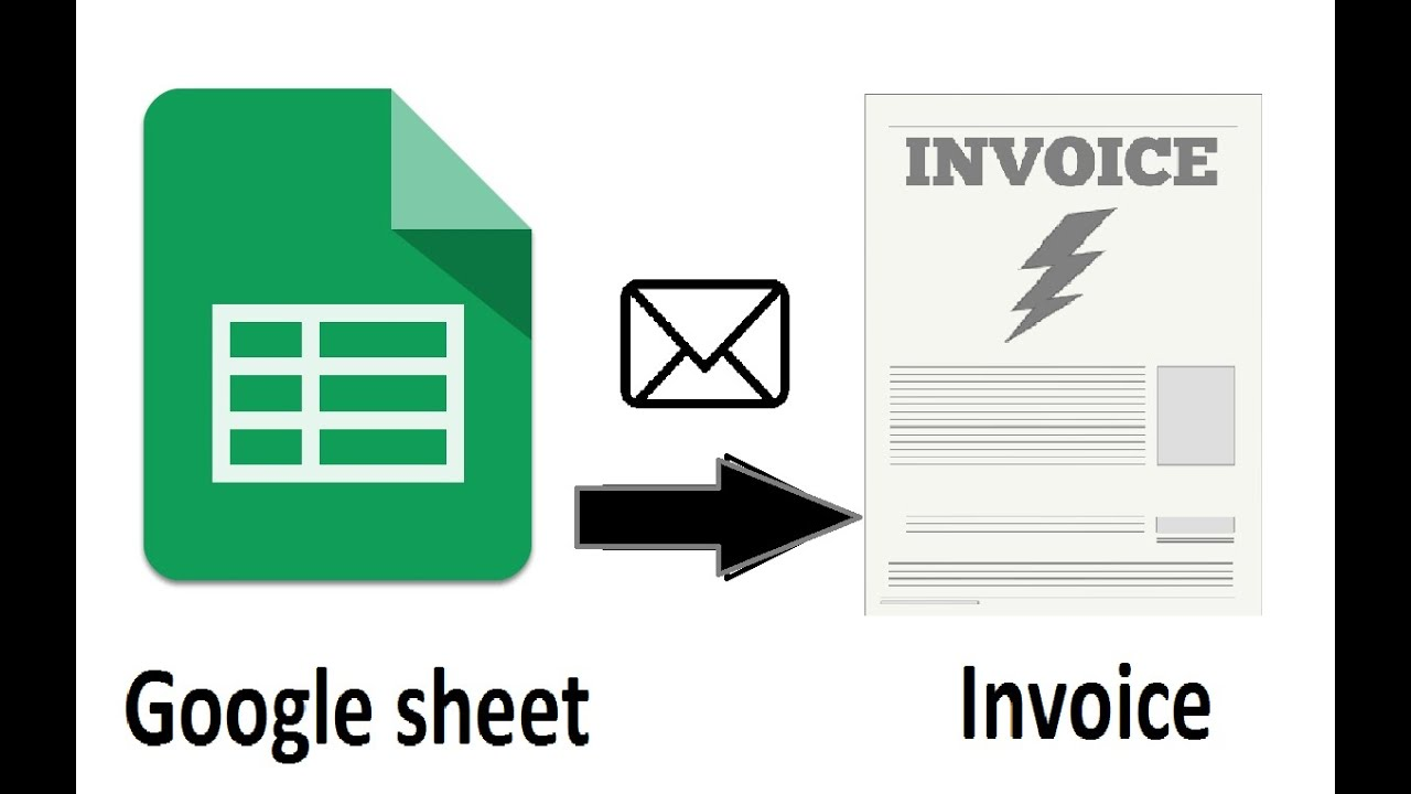 Google Sheet To PDF Invoice And PDF Agreement Automatically YouTube - Google sheets invoice