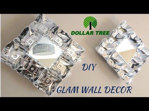DIY DOLLAR TREE GLAM WALL DECOR, DIY WALL ART, HOME DECOR IDEAS 2018