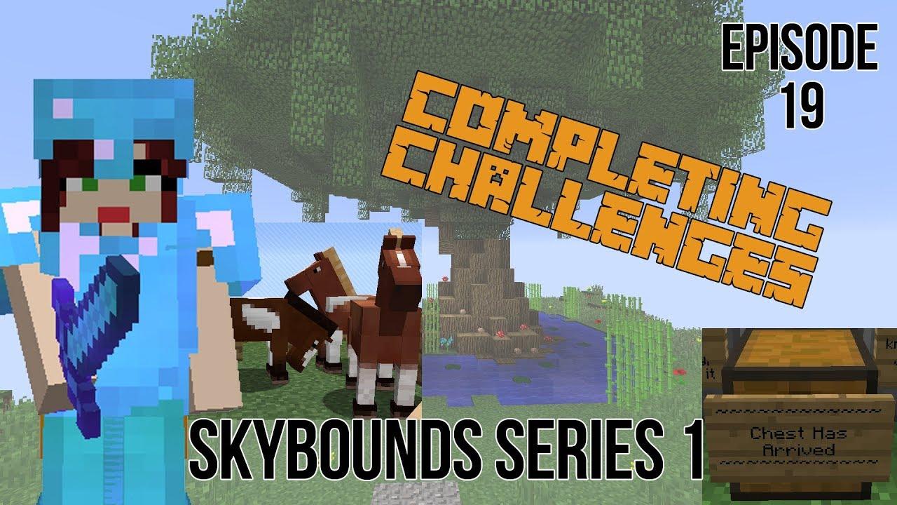IRON GOLEM FARM AND HORSE BREEDING!! Minecraft Skybounds - Robots Island -  Episode 19