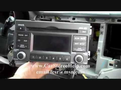 How to Kia Optima car Stereo Removal 2006 2010 replace