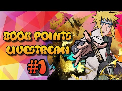 Naruto Blazing - Five Kage League: 800k Points Grind Livestream #1