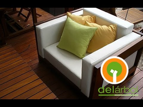 Muebles de madera para jard n y exterior del for Muebles para exterior uruguay