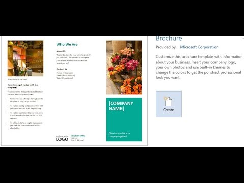 Word Pamphlet Template | How To Create A Brochures Using Word 2013 2016 Youtube
