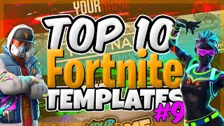👌TOP 10 FREE Fortnite Banner Templates 👌 #9 - 2018 FREE DOWNLOAD! | PHOTOSHOP CC & CS6 ✔️Querxes