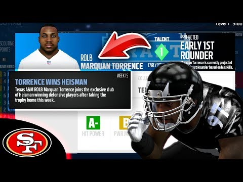DEFENSIVE PLAYER WINS HEISMAN! THIS SCOUT LOOKS AMAZING! Madden 17 49ers Connected Franchise Ep. 15