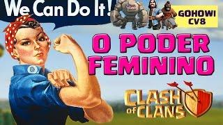 TOC TOC | LADY VISITA SEU CLÃ [ATAQUE DE CV8 GOHOWI/HOGOWI] | PRISON BREAK | CLASH OF CLANS