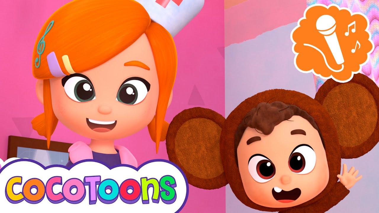 Cinco Monitos Sing along con Lea y Pop   Cocotoons