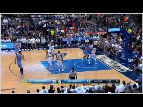 Jokic perfect assist to Mudiay - Dallas Mavericks vs. Denver Nuggets - NBA - 12/12/2016
