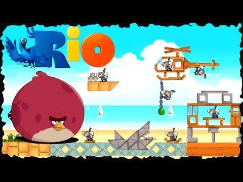 Angry Birds Rio - Beach Volley All Levels Three Star Walkthrough