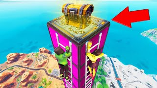 Climb To The TOP FIRST To WIN! (Fortnite King Of The Ladder)