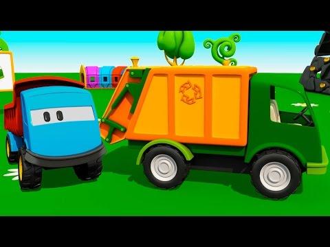 Мультики для малышей про машинки: Грузовичок Лева, Экскаватор Мася и Мусоровоз - мультик конструктор