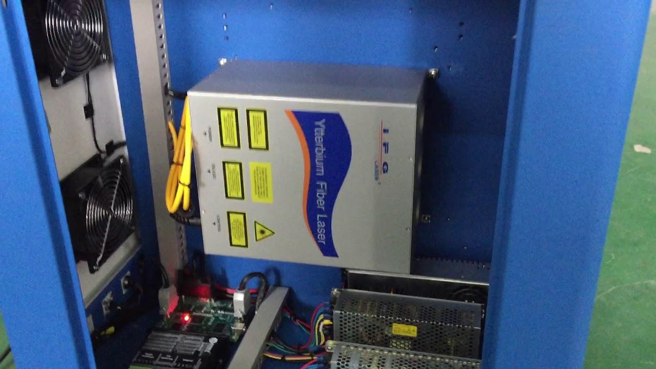 100W IPG SCANLAB scanner fiber laser marking machine