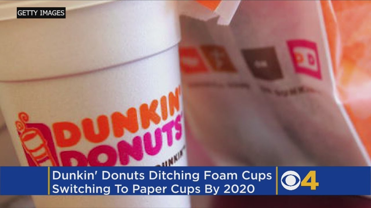 d8722126a15 Dunkin' Donuts Announces Plan To Eliminate All Foam Cups